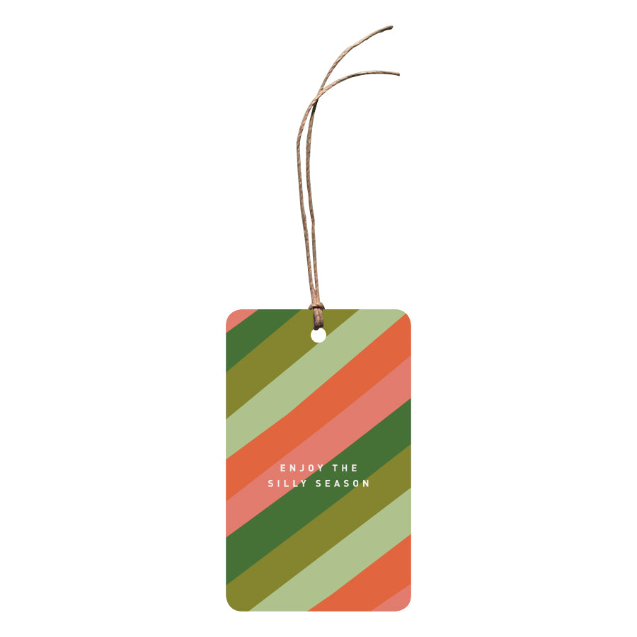 'Enjoy The Silly Season' Christmas Gift Tag