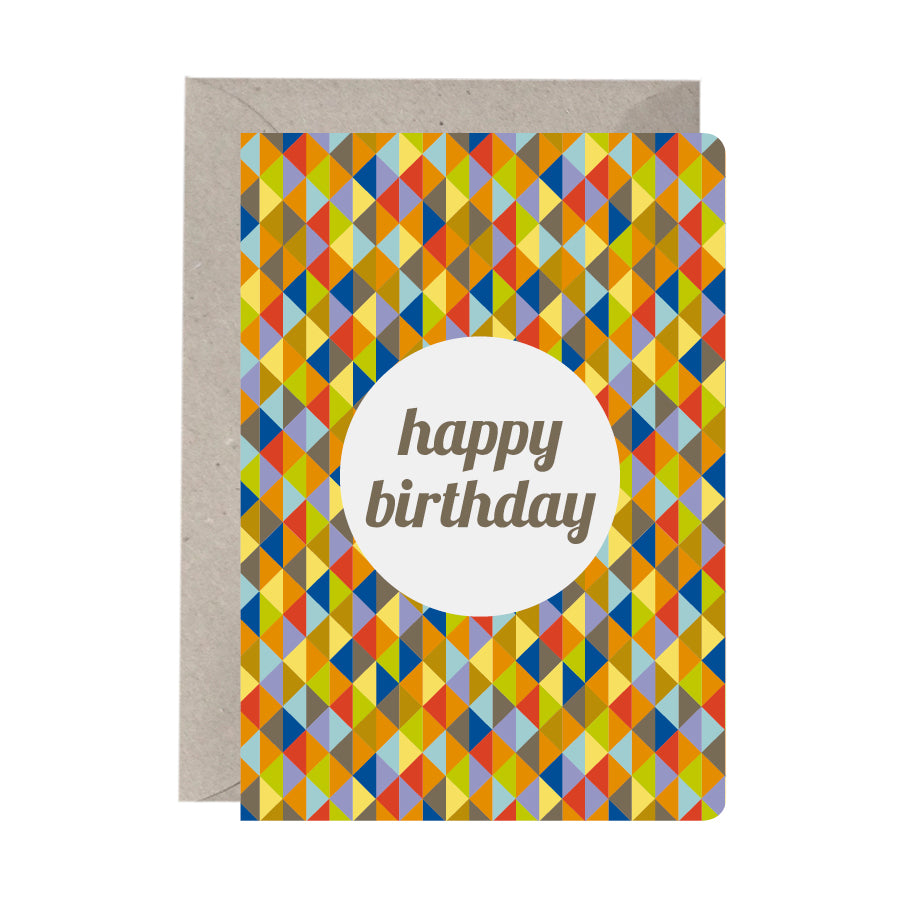 'Happy Birthday Geometric' Birthday Card