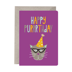 'Happy Purrrthday' Birthday Card