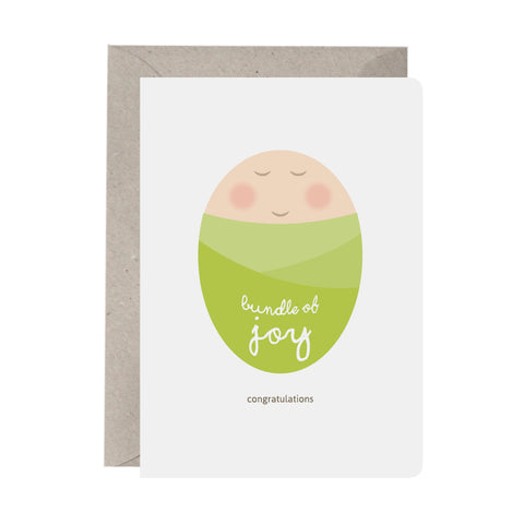 'Bundle Of Joy (Green)' Baby Card