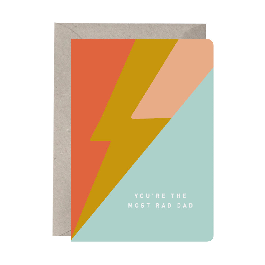 'You're The Most Rad Dad' Greeting Card