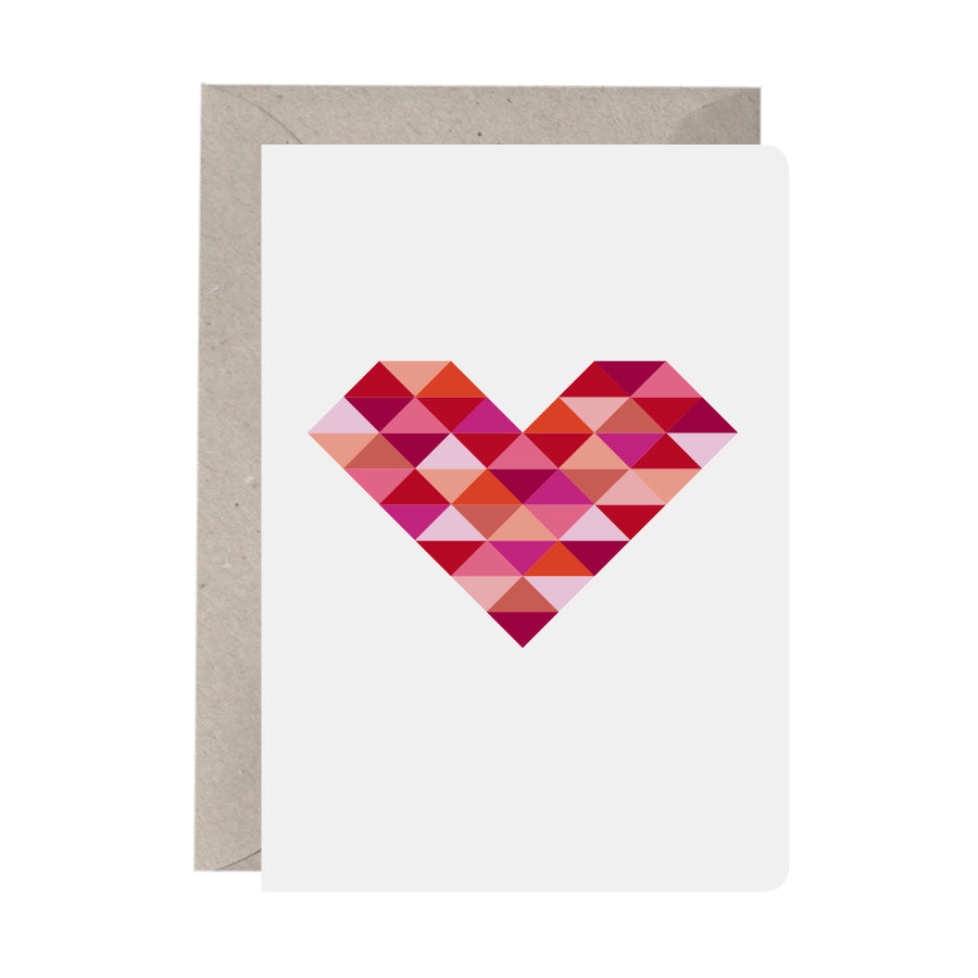 'Geometric Heart' Greeting Card
