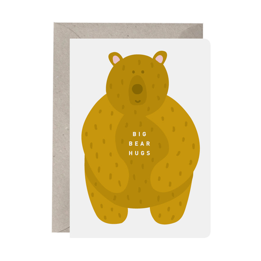 'Big Bear Hugs' Greeting Card