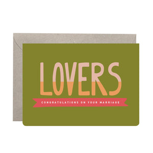 'Lovers!' Wedding Card
