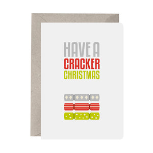'Have A Cracker Christmas' Christmas Card