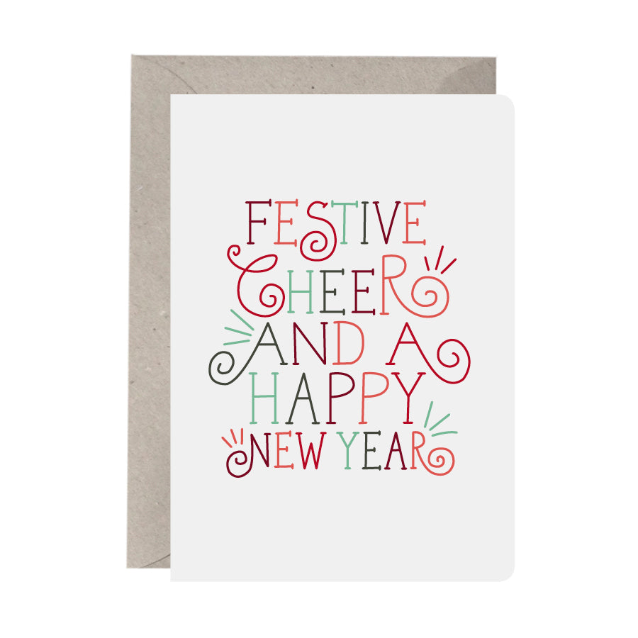 'Festive Cheer And A Happy New Year' Christmas Card