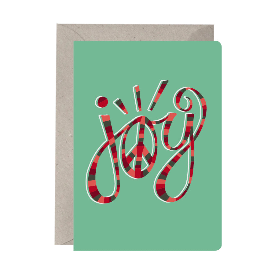 'Joy Peace' Festive Card