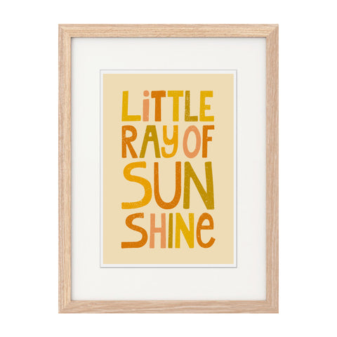 'Little Ray Of Sunshine' A4 Print