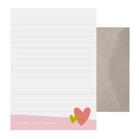 'Secret Love Notes' Writing Set