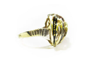Enamel & Diamond Ring