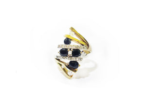 Hand Made Sapphire & Diamond Ring