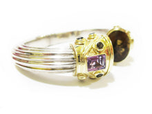 Load image into Gallery viewer, Smokey Quartz & Amethyst Bangle