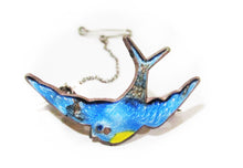 Load image into Gallery viewer, c1940 Blue Bird Brooch