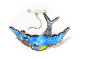 c1940 Blue Bird Brooch