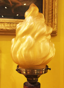 c1900 Hand-Carved Ebony Lamp