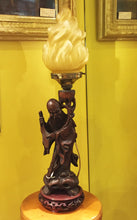 Load image into Gallery viewer, c1900 Hand-Carved Ebony Lamp