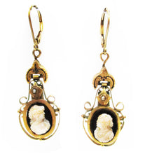 Load image into Gallery viewer, Victorian Cameo Earrings