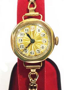 c1922 Art Deco 9ct Gold Watch