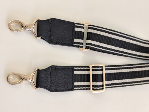 Black trim black canvas strap