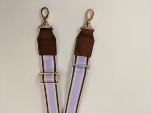 Oak trim purple canvas strap
