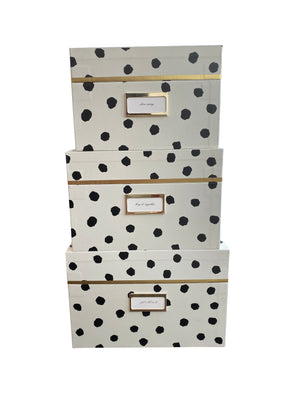Kate Spade Spotty Black Dot Nesting Boxes