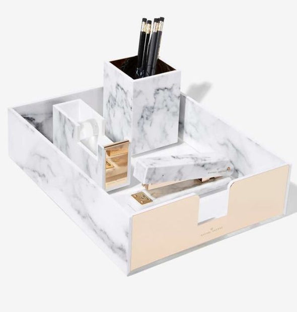 Rachel George Acrylic Marble Desk Set