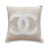 Authentic Chanel Pillow Beige Cashmere
