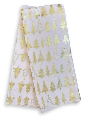 Pink Gold Christmas Tree Kitchen Towels