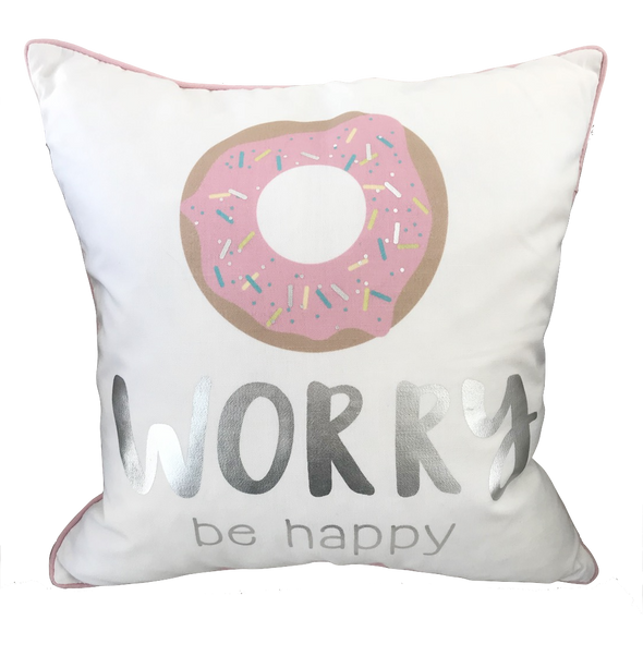 Donut Worry Be Happy Pillow