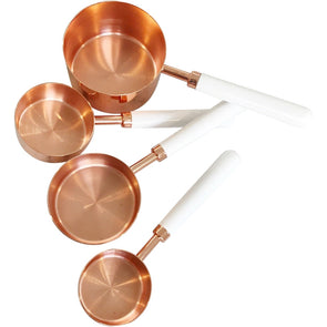 White & Rose Gold Measuring Cups
