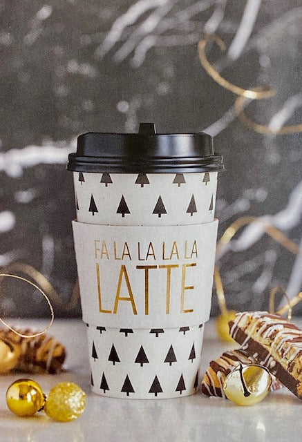 FA LA LATTE Paper Coffee Cups