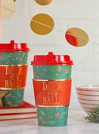 Deck The Halls Paper Coffee Cups