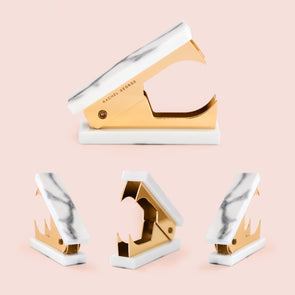 Rachel George Acrylic Marble & Gold Staple Remover