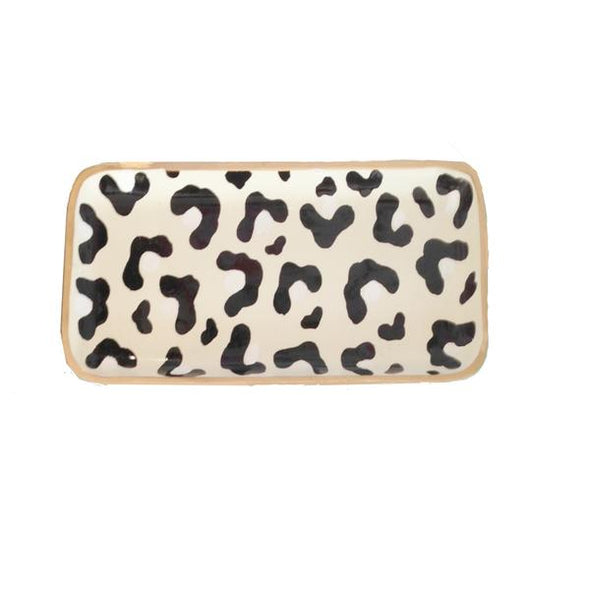 White Leopard Small Tray