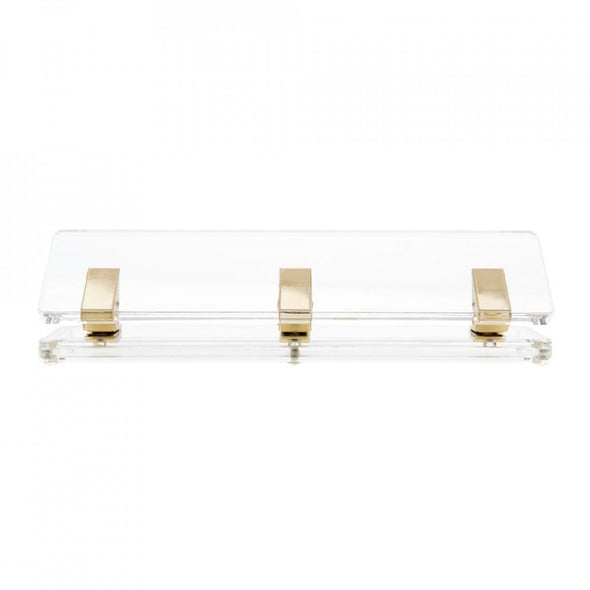 Acrylic & Gold Three Hole Punch by Russell + Hazel