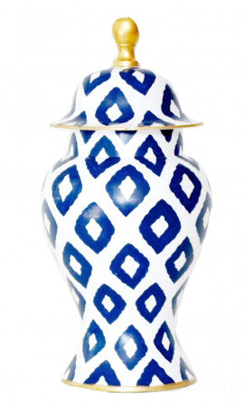 Ginger Jar in Navy Baratta (small)