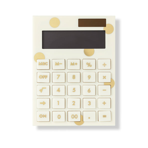 Kate Spade Acrylic Calculator - Gold Dot