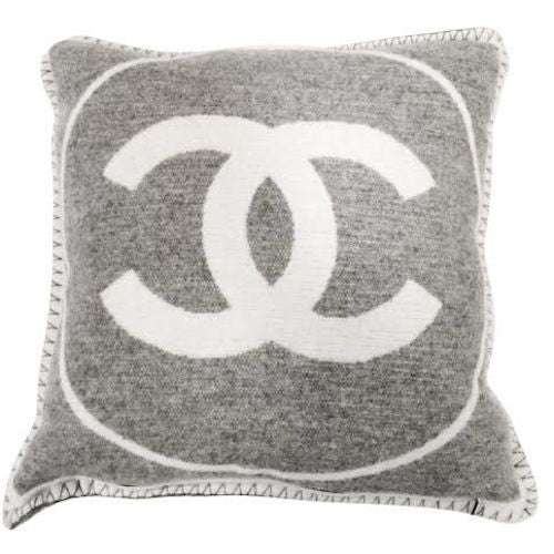 Authentic Chanel Pillow Gray Cashmere