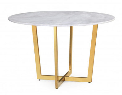 Marble & Gold Dining Table