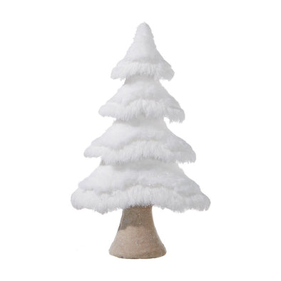 Flat White Fur Christmas Tree