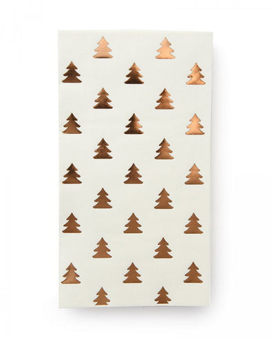Rose Gold Christmas Tree Paper Guest Towel Napkins
