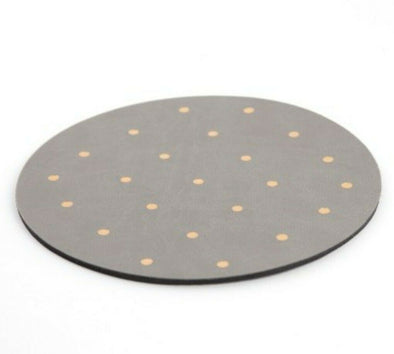 Gold Dot Leather Mouse Pad