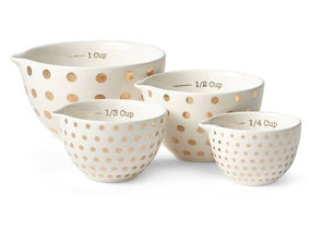 Gold Dot Measuring Cups