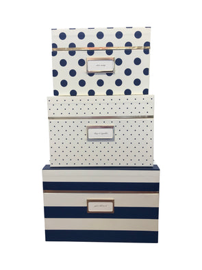 Kate Spade Navy Nesting Boxes