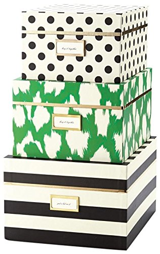 Kate Spade Painterly Cheetah Nesting Boxes (sold separately)