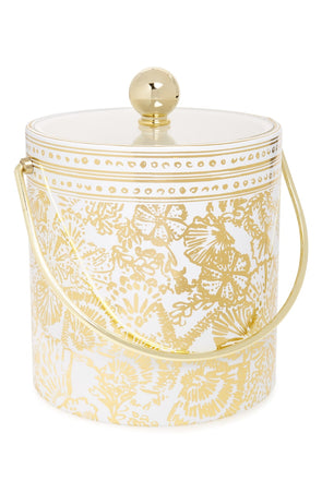Lily Pulitzer Gold Ice Bucket