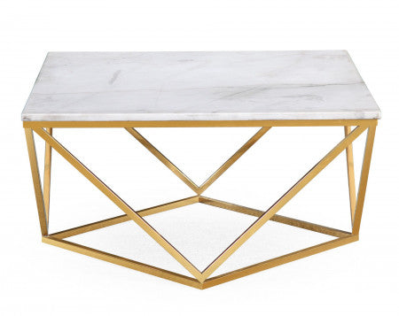 Marble & Gold Cocktail Coffee Table