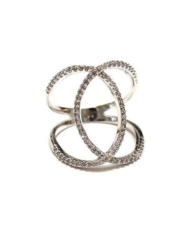 Melanie Auld Silver Double Pave Ring