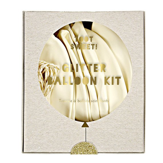 Meri Meri Gold Glittered Balloon Kit