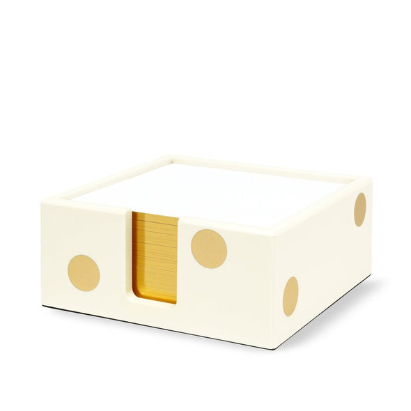 Kate Spade Acrylic Note Holder - Gold Dot